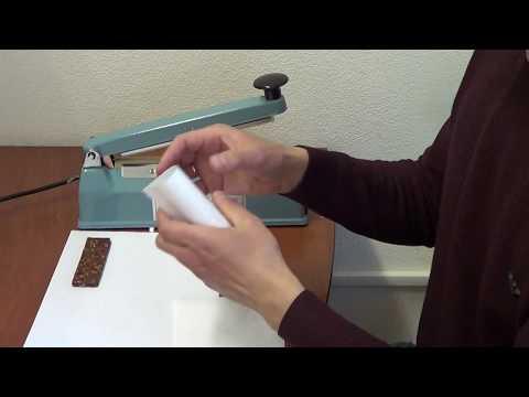 Как упаковать батончик в саше-пакет?