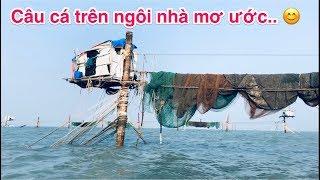 Câu cá nhà một cột hàng đóng đáy - Biển Vũng Tàu.