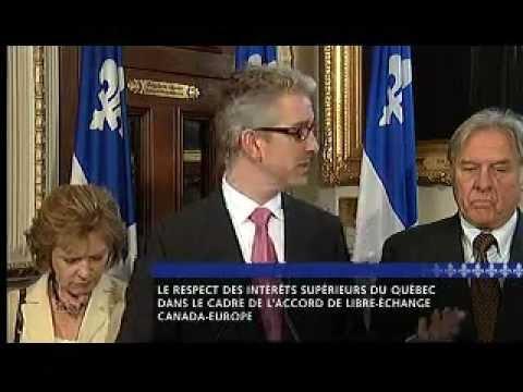 Conférence de presse - Accord de libre-échange Canada-Europe