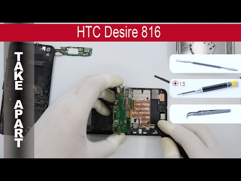 How to disassemble 📱 HTC Desire 816 D816h (OPGL200) Take Apart, Tutorial