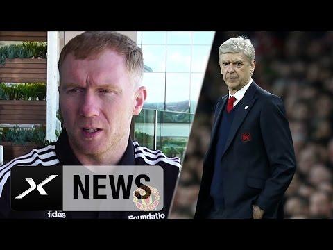 "Paul Scholes: Arsene Wenger? ""Kann selbst entscheiden"" | Arsenal London | Premier League"