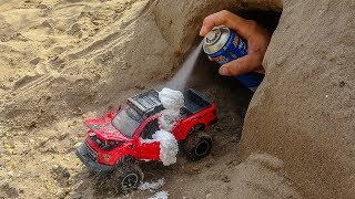 Car Toys Video For Kids - Remote Control Car, Monster Car Play With Snow Spray   MK Toys Colors