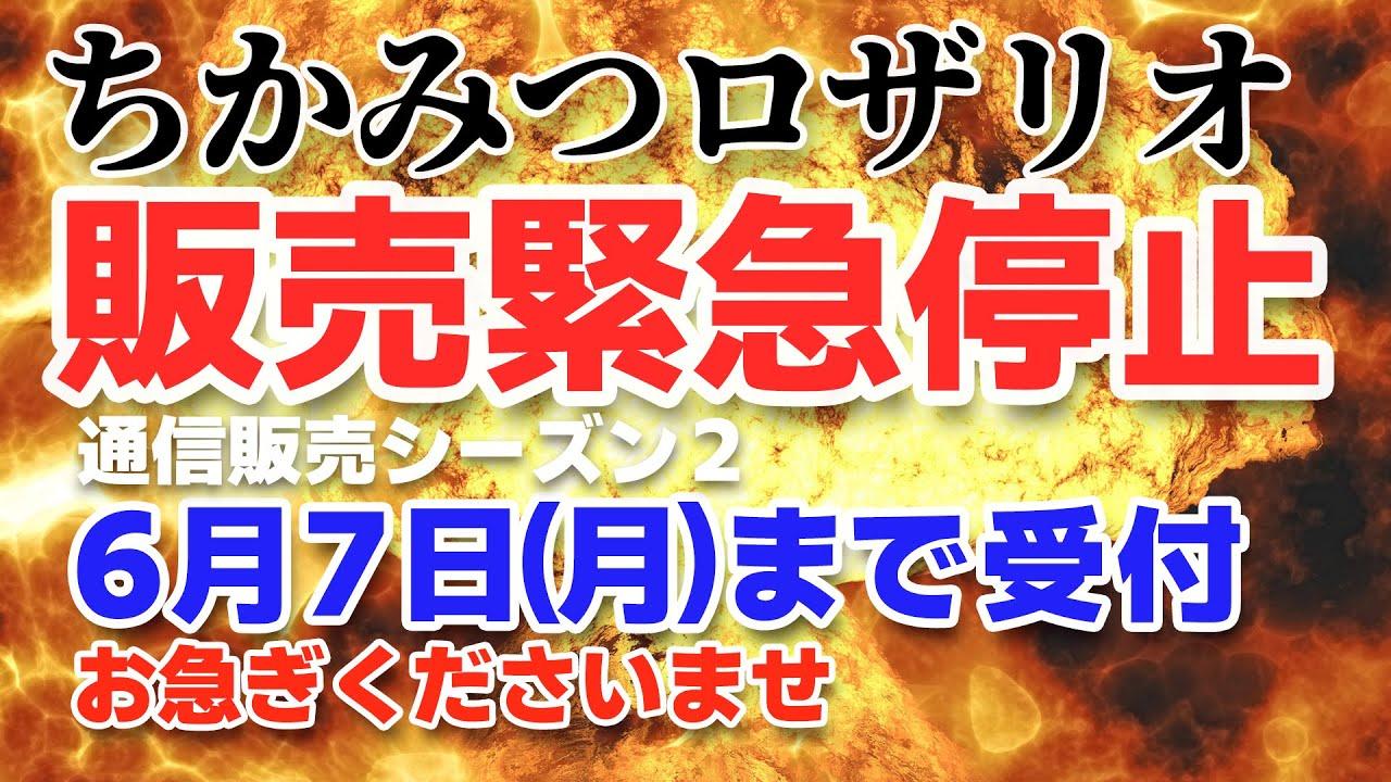 No.55 ちかみつロザリオ 販売緊急停止 通信販売シーズン2 6月7日(月)まで受付 お急ぎくださいませ