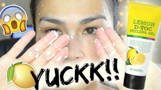 GROSS! Peeling off dead skin!? | Secret Key D-Toc Peeling Gel REVIEW + DEMO 시크릿키 레몬 디톡 필링젤