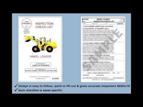 Wheel Loader Inspection Checklist #2-015 The Checker