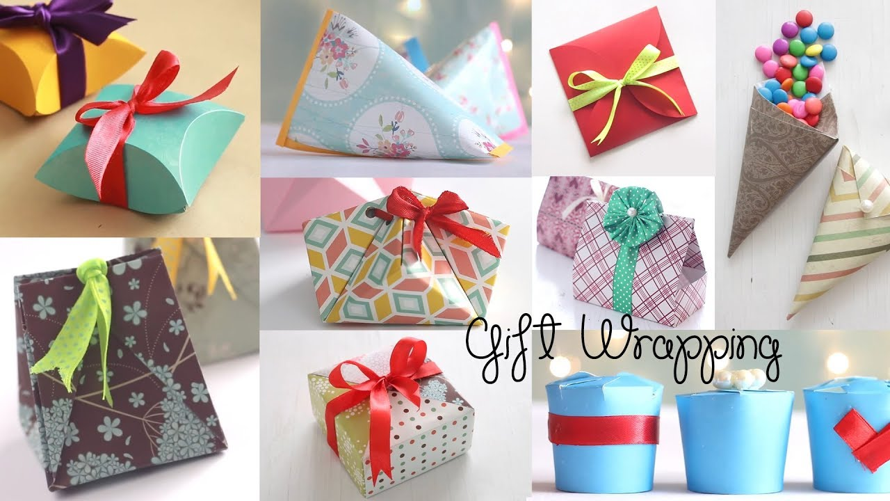 10 Fantastic Gift Wrap Ideas Paper Crafts Compilation Youtube