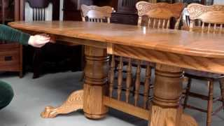 Double Pedestal Dining Table 2