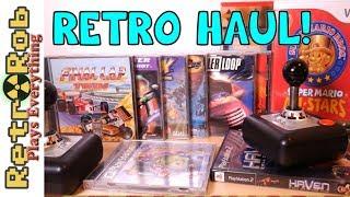 Retro Game Haul With Playstation Atari and More! / Видео