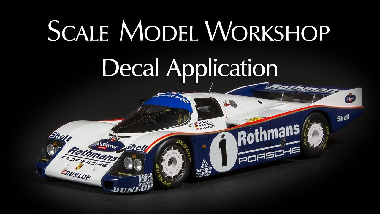 Decal application for scale models
