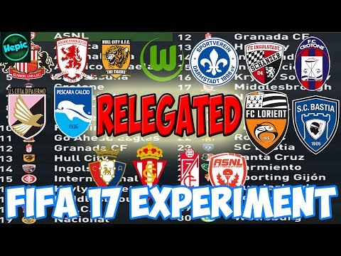 WHICH RELEGATED TEAMS WOULD DO BEST IN THEIR OWN LEAGUE? - FIFA 17 CAREER MODE EXPERIMENT