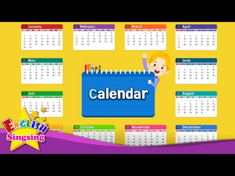 Kids vocabulary - Calendar - Months and Days - Learn English for kids - English educational video