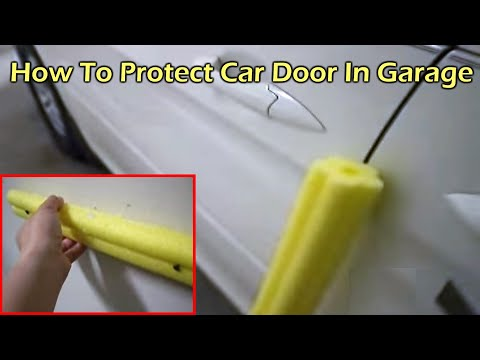 Protect Your Car Door From Hitting The Garage Wall Youtube