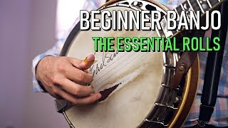 Beginner Banjo | 3 Essential Rolls For Bluegrass Banjo