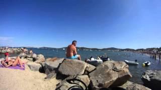 Time lapse Plage Beach strand Port Grimaud Var Prairies de la mer