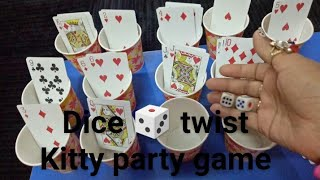 DICE 🎲 twist confusion card in glasses, kitty party game, birthday party, activity game,