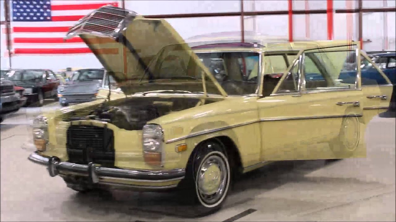 1973 mercedes 220 diesel youtube. Black Bedroom Furniture Sets. Home Design Ideas