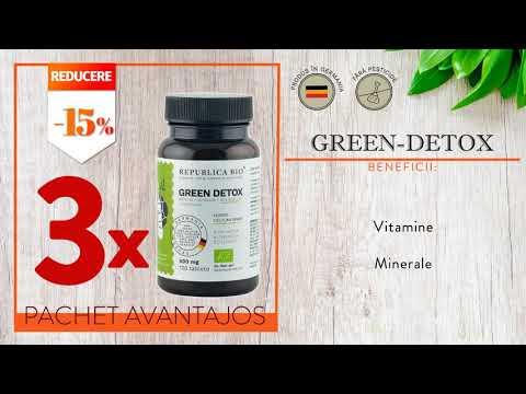 GREEN DETOX BIO Complet, pachet promotional, cura completa pentru 120 de zile, BIO, RAW, VEGAN