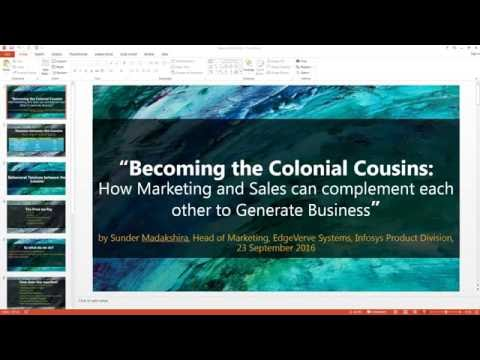 Becoming the Colonial Cousins  How Marketing and Sales can complement each other to Generate Busines