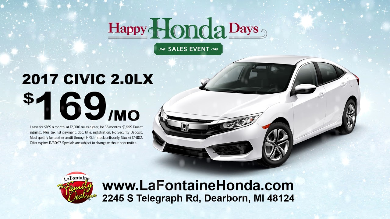 LaFontaine Honda of Dearborn | Black Friday All Month Long | Happy