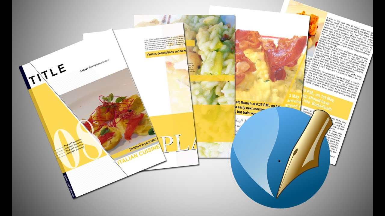 Scribus 1 5 3 how to create a brochure tutorial and for Scribus brochure templates