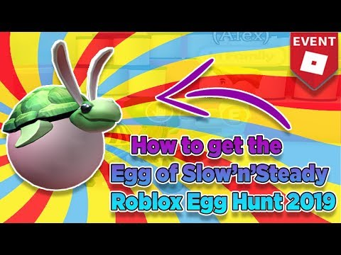 Roblox Easter Egg Hunt 2019 Youtube Roblox Free Kid Games - Egg Of Slow N Slteady In Speed Run 4 Roblox Egg Hunt Event