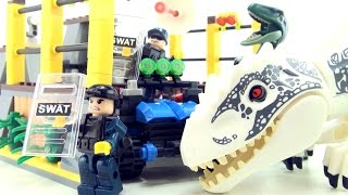 Indominus Rex Breakout Dinosaur bricks - Jurassic World Lego compatible - Speed Build