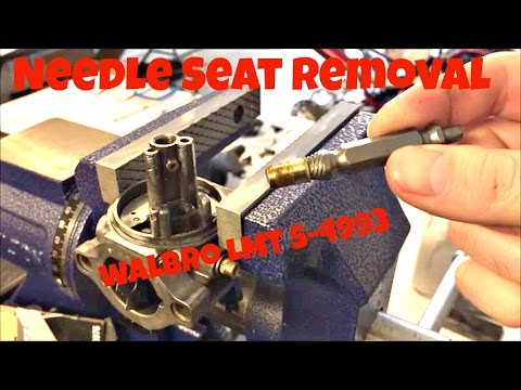 Walbro LMT Carburetor Needle Seat Removal How To