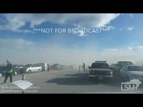 12-19-18 Highlands Ranch Co  High Winds - Construction Site Engulfed In Blowing Dust