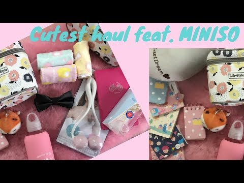 CUTEST HAUL VIDEO Feat. MINISO IN INDIA   SUPER AFFORDABLE + GIVEAWAY