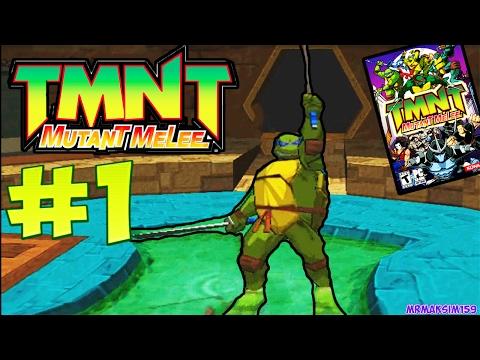 """""""TMNT 3: Mutant Melee"""" - Прохождение #1 (Файтинг с Ужасной Графикой ?!) - ЗА ЛЕОНАРДО"""