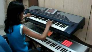 Kati Patang - Yeh jo mohabbat hai - Indian Instrumental (Keyboard) song performed by 10 year old...