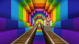 รถไฟเหาะสายรุ้ง กับ Pennywise (Minecraft)