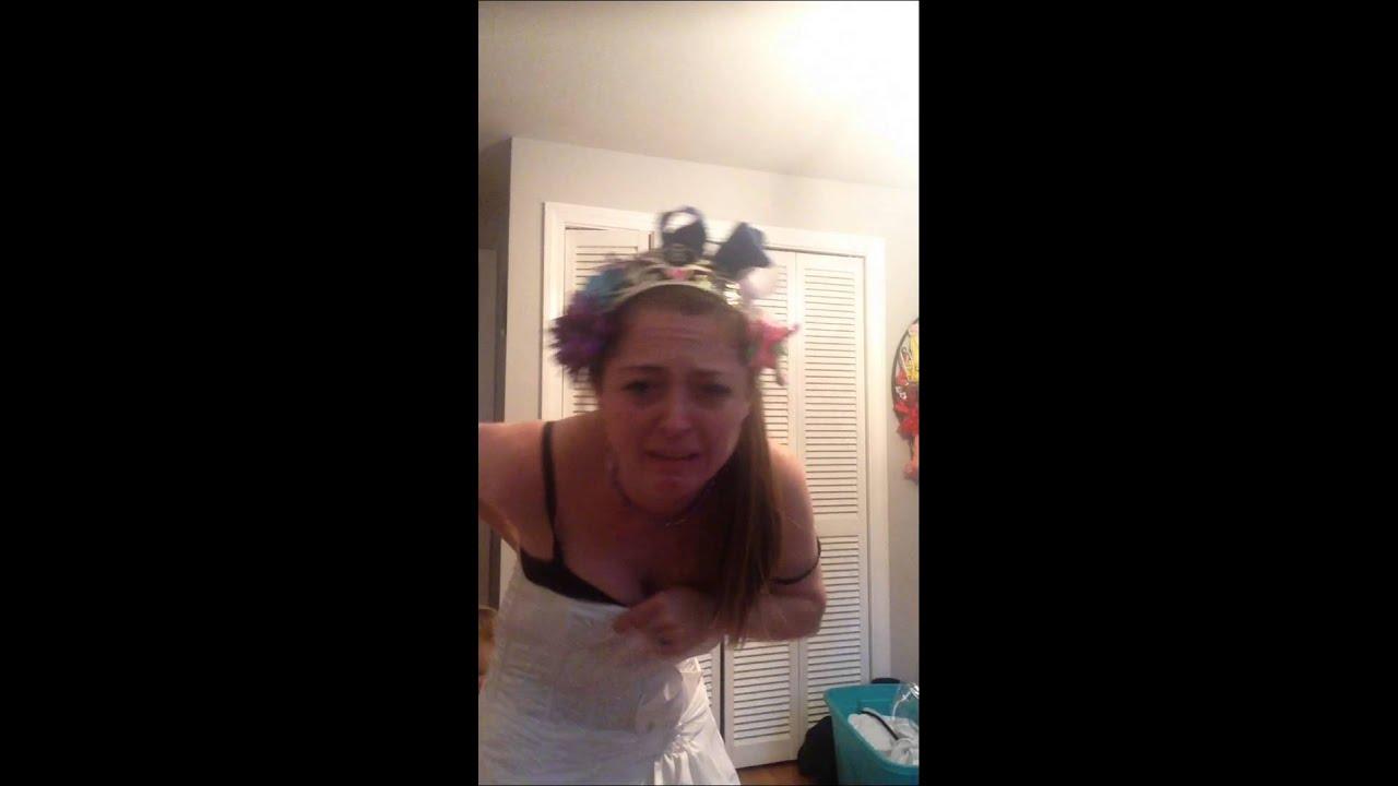 Got stuck in my wedding dress. Fail - YouTube