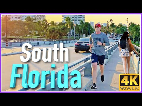 【4K】WALK FORT LAUDERDALE Florida USA 4K Video Travel Vlog SLOW TV