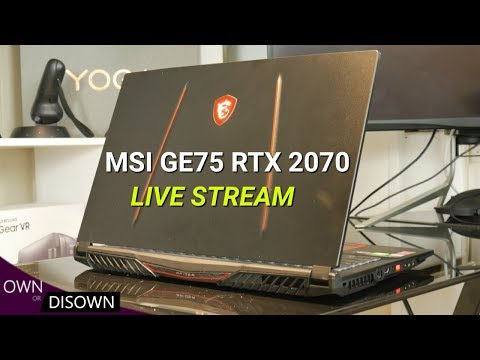 MSI GE75 RAIDER 8SF  RTX 2070 - Live Stream Recap