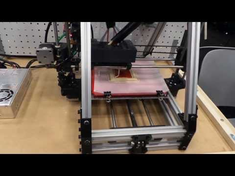 A 3-D Printer Makes A Pizza