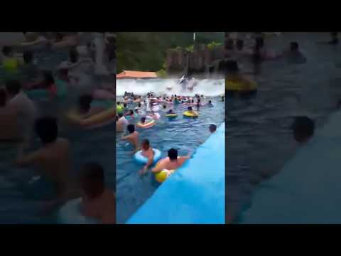 Clint August - Dozens Injured In Wave Pool Accident. Huge Wave Hurls People...