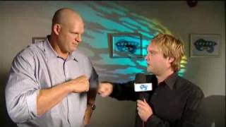Soccer am Tubes Meets WWE wrestler Kane and JLC