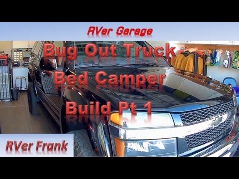 387b-Bug Out Truck Bed Camper, Build Pt 1, Colorado Z71 4x4