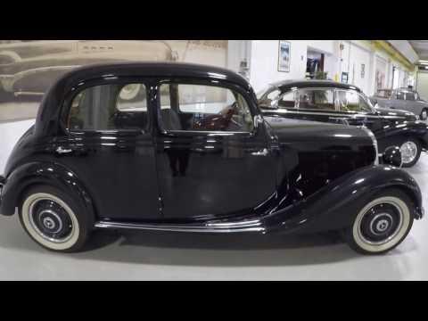 Mercedes benz 170v mb w136 1949 black limousine walkaround for 1949 mercedes benz
