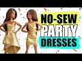 How to make no-sew Dresses for Barbie. Clothes for dolls