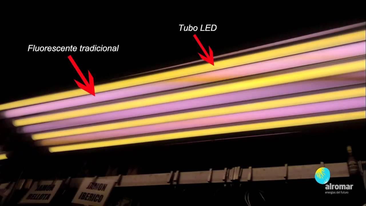Fluorescentes tradicionales vs tubos led youtube - Tubo fluorescente led ...