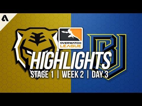 Seoul Dynasty vs Boston Uprising ft. Tobi Striker   Overwatch League Highlights OWL Week 2 Day 3