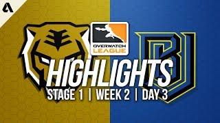 Seoul Dynasty vs Boston Uprising ft Tobi Striker | Overwatch League Highlights OWL Week 2 Day 3