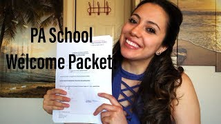 I Recieved My Welcome Packet From PA School!