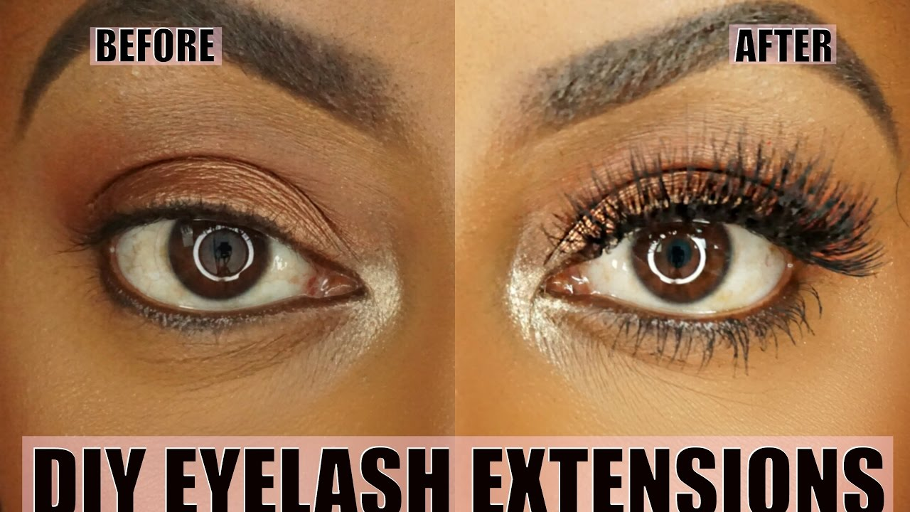 Diy Permanent At Home Eyelash Extension Application Jessica