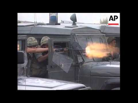 ISRAEL/RAMALLAH: PALESTINIANS CLASH WITH ISRAELI POLICE