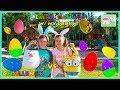 Kids do Eggs Hunt for Easter Egg Surprises Full of Toys!