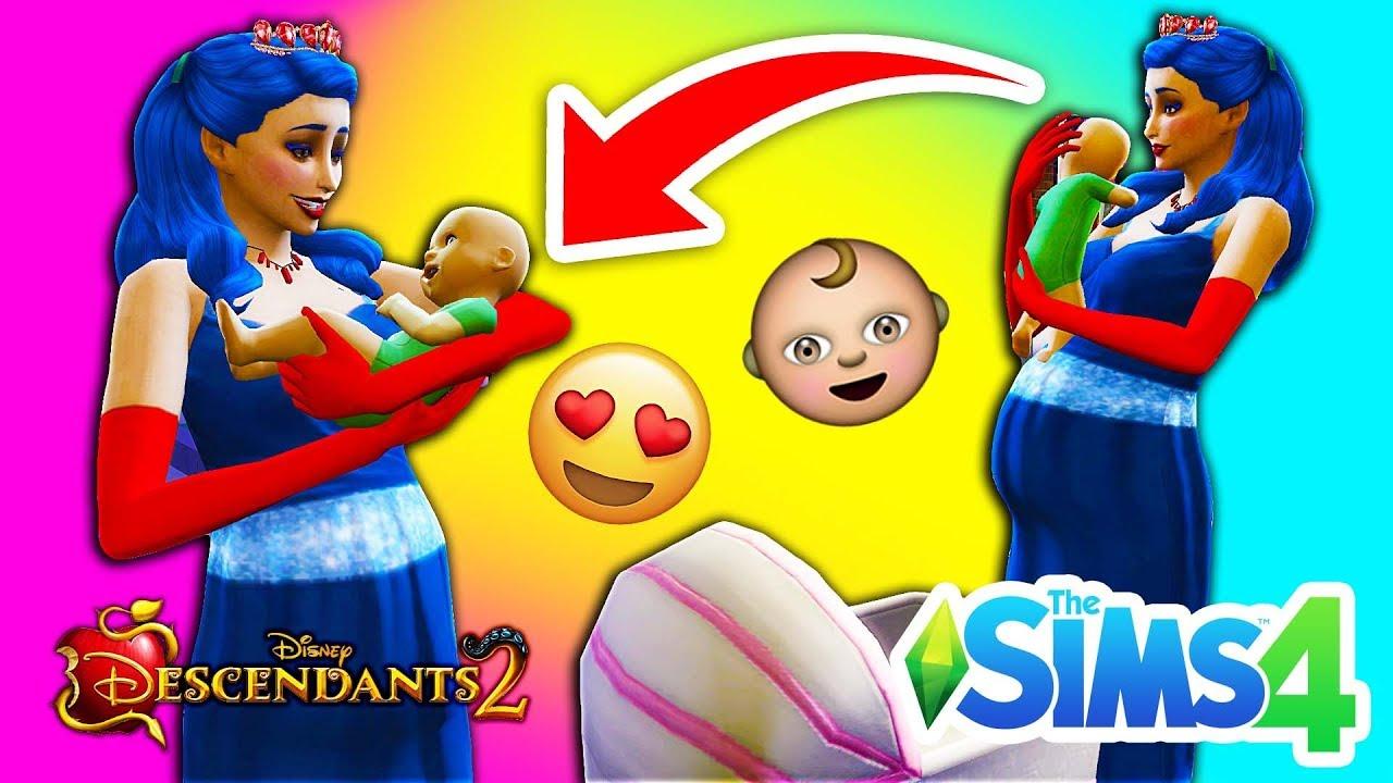 DESCENDANTS 2 Sims 4 👶 EVIE HAS A BABY!! 👦 BOY OR GIRL? 👧 Disney's  Descendants