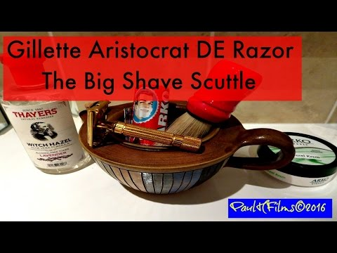 Gillette Aristocrat DE Razor - 1946-48 - Arko Shaving Soap